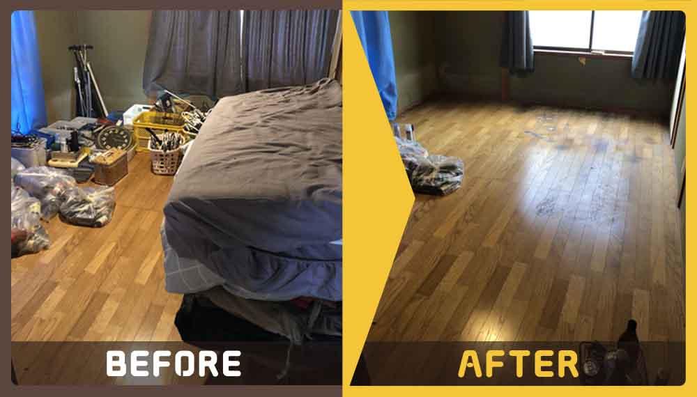 ご家族が住んでいた一軒家のほぼ全ての家具などの処理にお困りのお客様からご依頼いただきました。