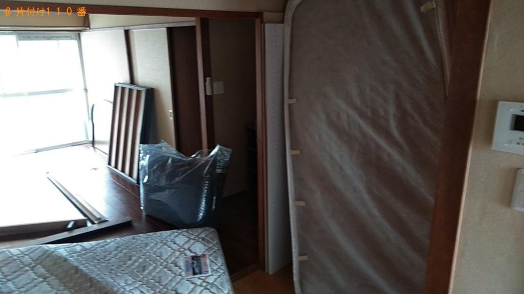 【鳥取市】カラーボックス、シングルベッドマットレス等の回収・処分