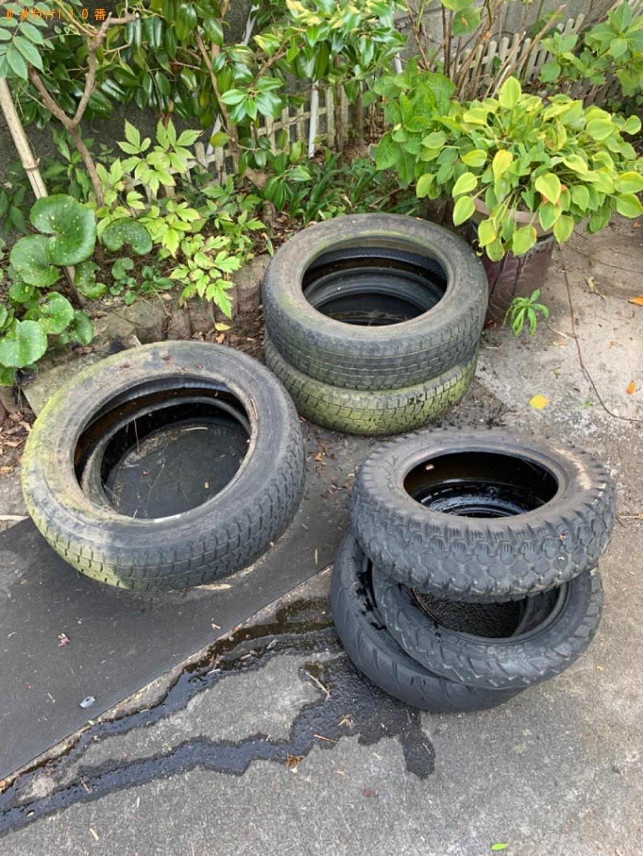 【鳥取市】セミダブルマットレス、タイヤの回収・処分ご依頼