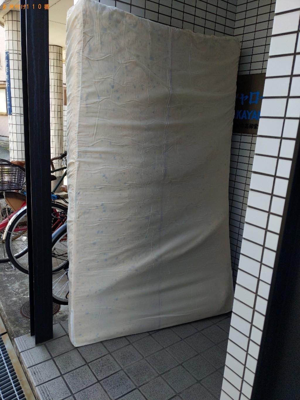 【鳥取市】セミダブルマットレス、照明器具の回収・処分ご依頼