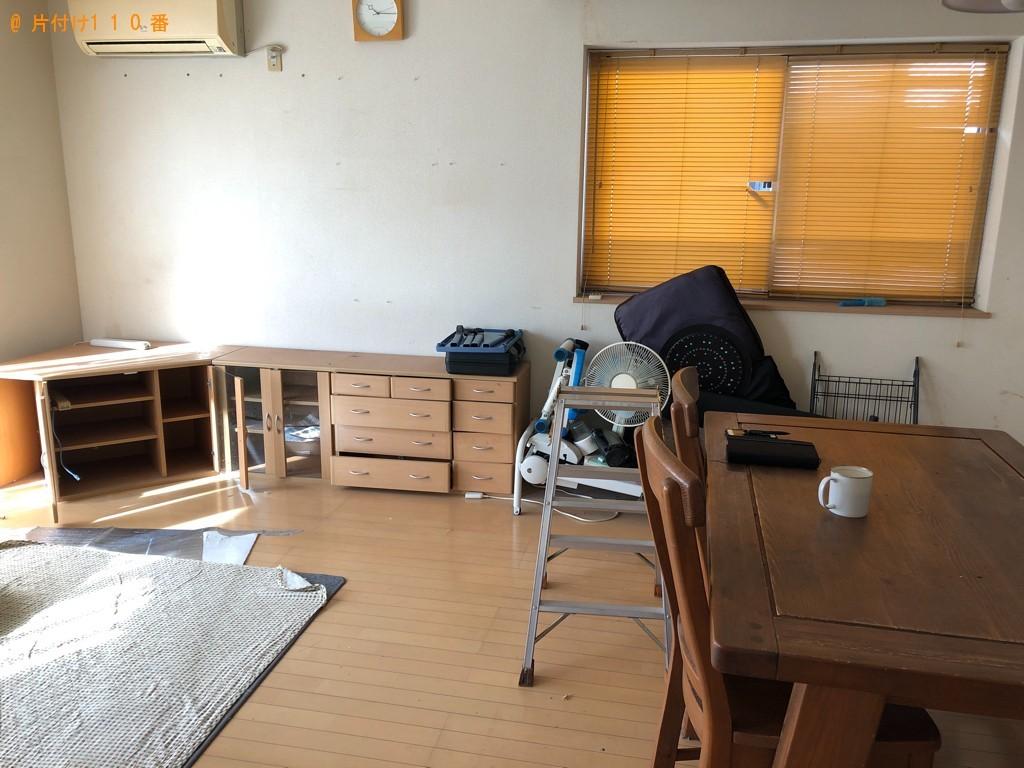 【鳥取市】6人用ダイニングテーブル、二段ベッド等の回収・処分