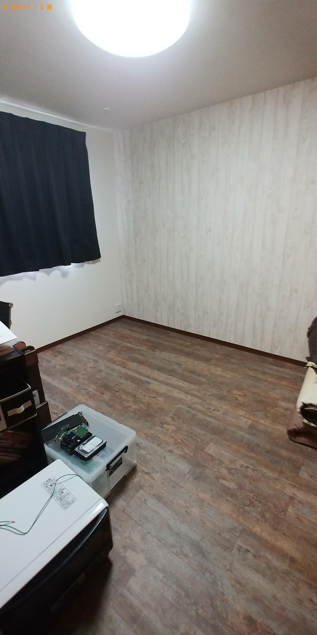 【鳥取県若桜町】食器棚、ロフトベッド、レンジ台の出張不用品回収・処分ご依頼