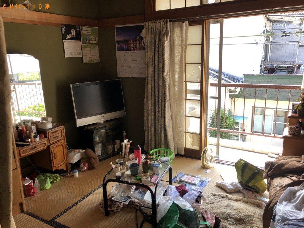 【江府町】シングルベッド、鏡台、整理棚等の回収・処分 お客様の声