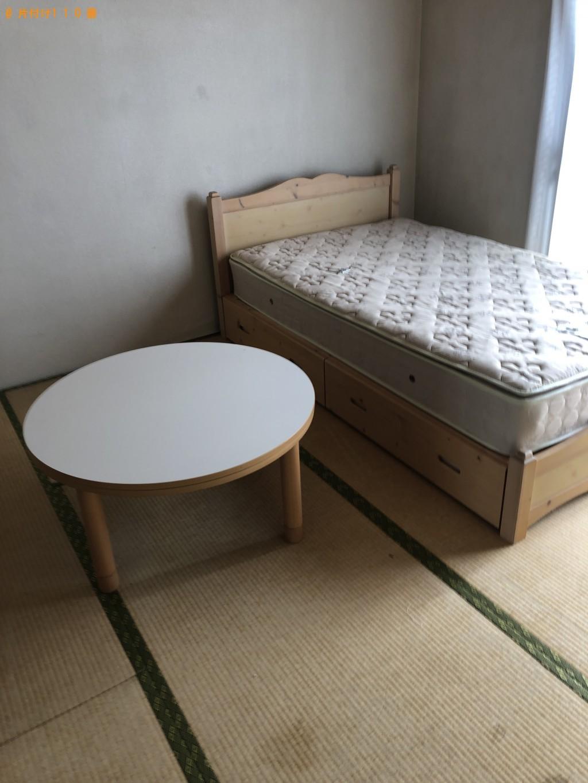 【鳥取県日野町】セミダブルベッド、整理棚、机の回収・処分 お客様の声
