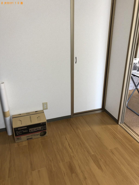 【鳥取県若桜町】メタルラック、テレビボード、衣装ケース等の回収・処分 お客様の声