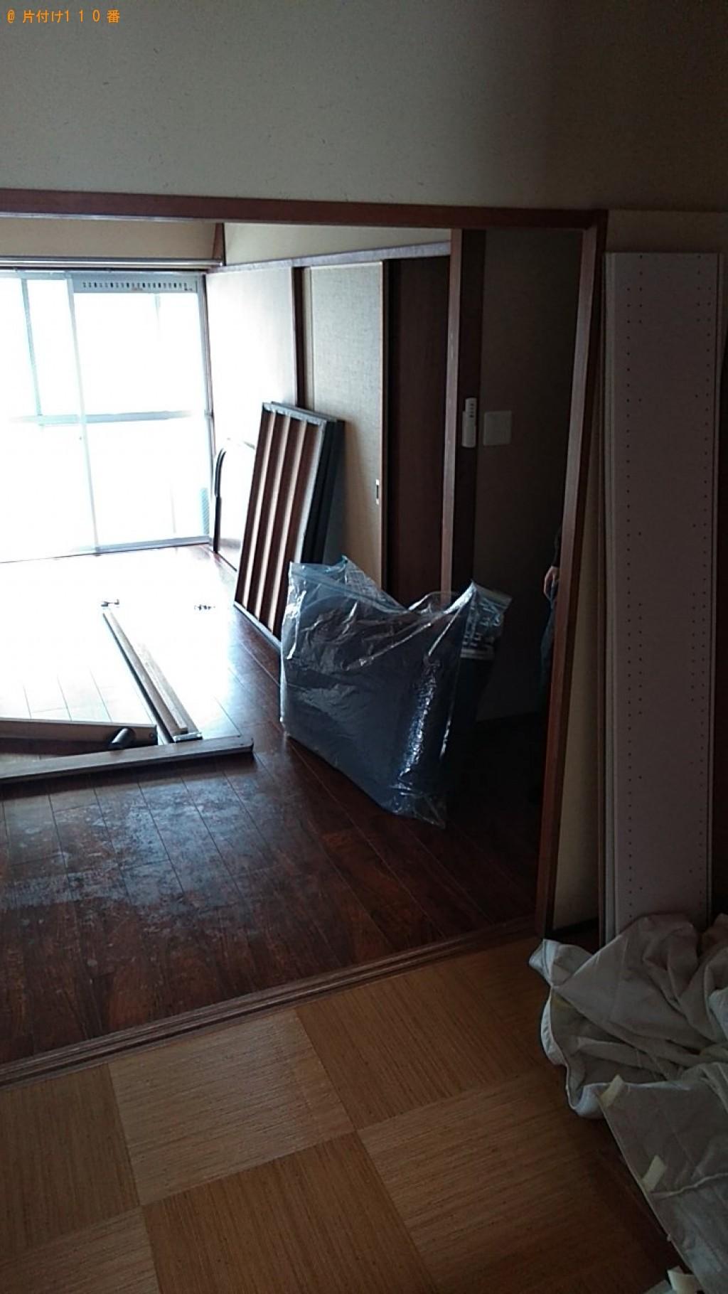 【三朝町】カラーボックス、シングルベッドマットレス等の回収・処分
