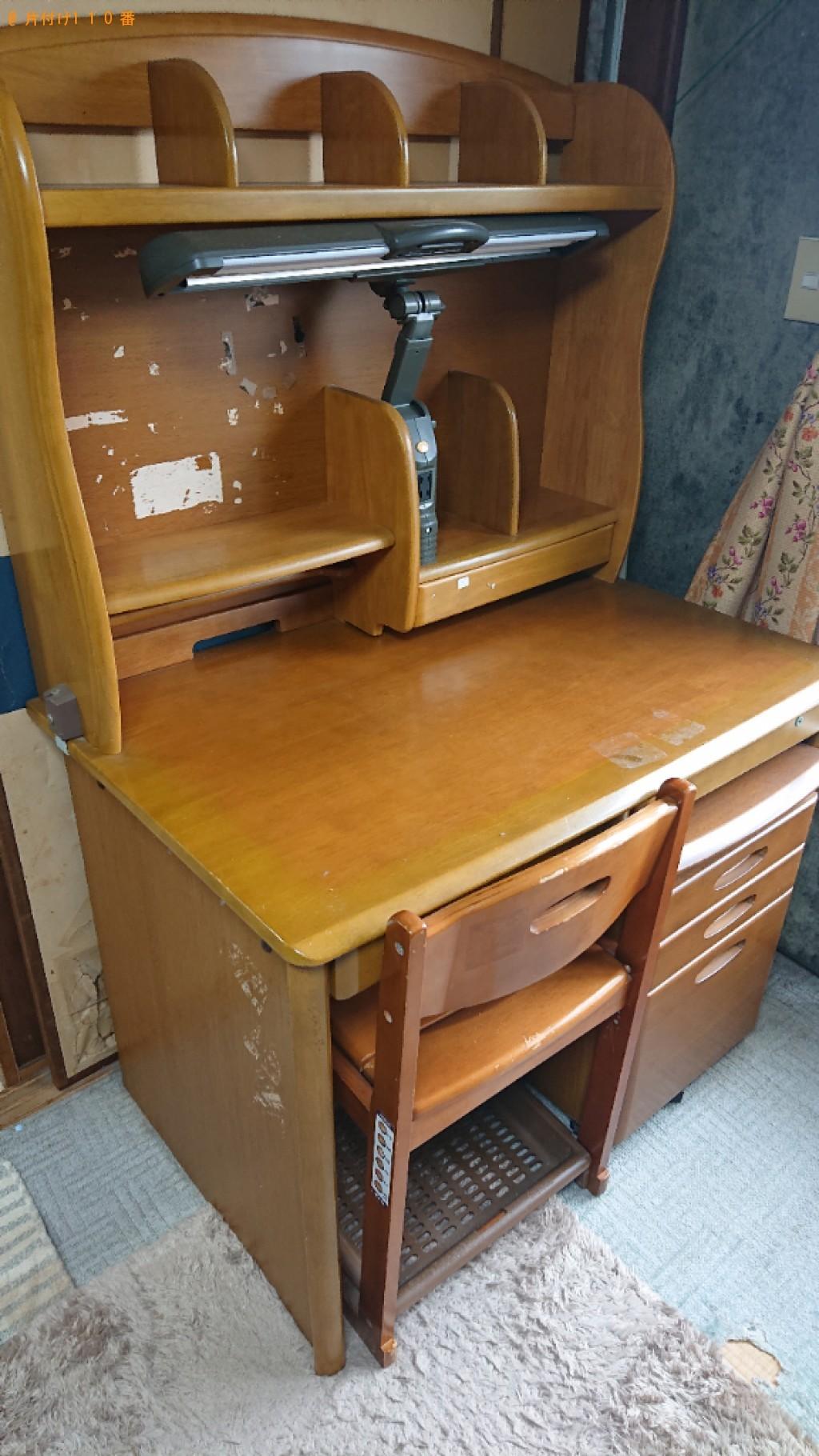 【鳥取市】学習机、椅子の回収・処分ご依頼 お客様の声