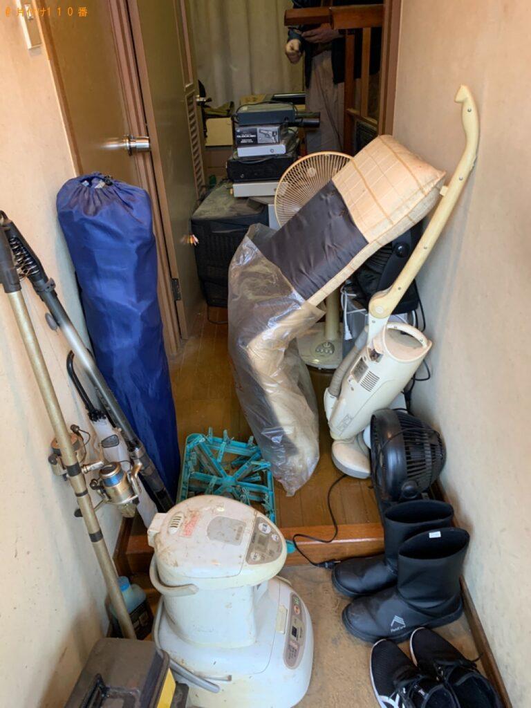 テレビ、こたつ、扇風機、座椅子、炊飯器、ポット等の回収