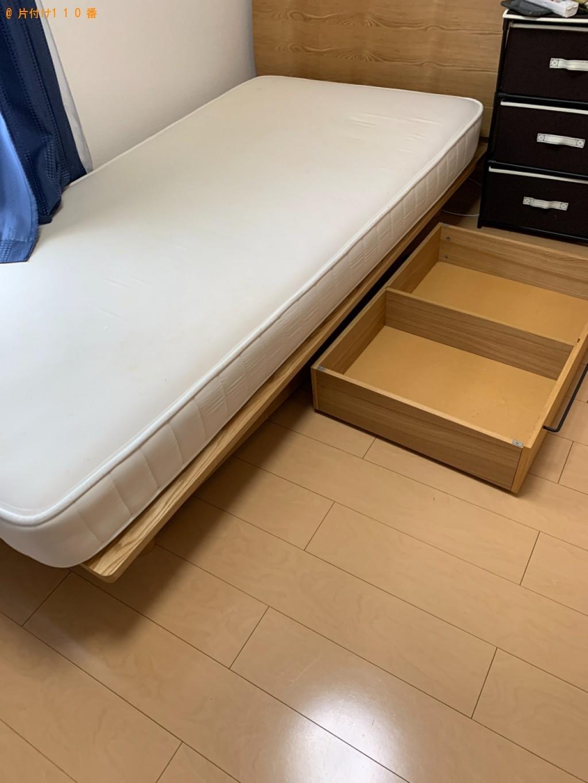 【鳥取市】マットレス付きシングルベッドの回収・処分ご依頼